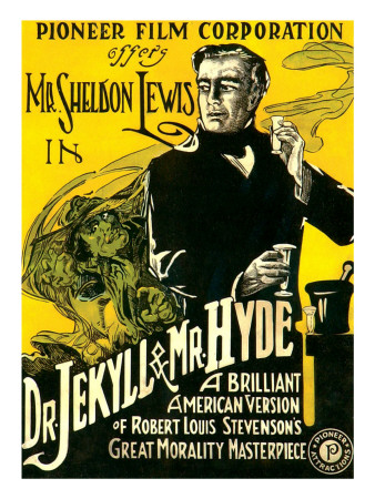 Dr.Jekyll and Mr. Hyde, Sheldon Lewis, 1920 Premium Poster