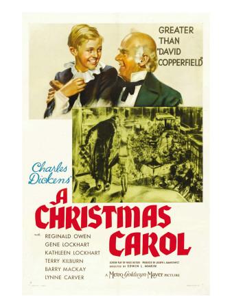 A Christmas Carol, Terry Kilburn, Reginald Owen, 1938 Photo