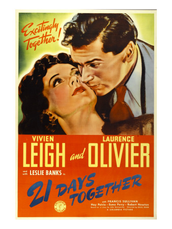 21 Days Together (Aka 21 Days), Vivien Leigh, Laurence Olivier, 1940 Photo