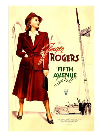 Fifth Avenue Girl (Aka 5th Ave Girl), Ginger Rogers, 1939 Photo