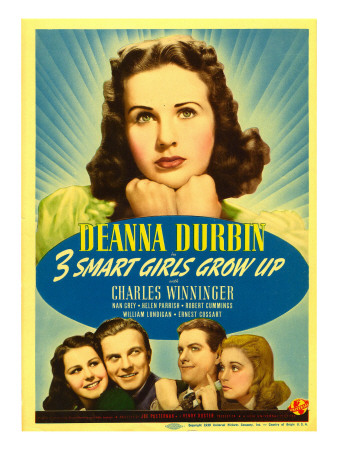 Three Smart Girls Grow Up, Deanna Durbin, Helen Parrish, William Lundigan, 1939 Photo