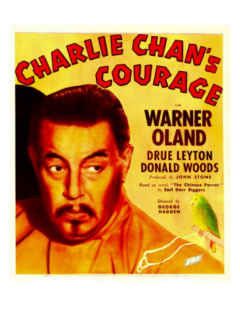 Charlie Chan's Courage, Warner Oland on Window Card, 1934 Premium Poster