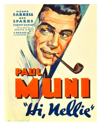 Hi, Nellie, Paul Muni, 1934 Premium Poster