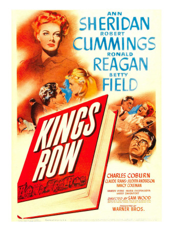 King's Row, Ann Sheridan, Robert Cummings, Betty Field, Ronald Reagan on Midget Window Card, 1942 Photo