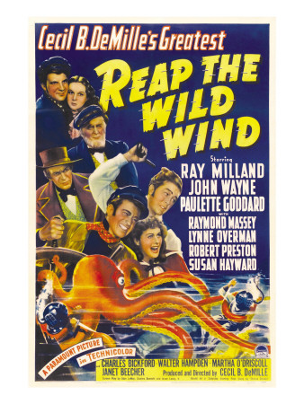 Reap the Wild Wind, Ray Milland, Paulette Goddard, 1942 Photo