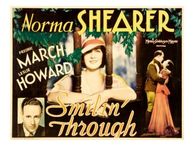 Smilin' Through, Leslie Howard, Norma Shearer, 1932 Photo