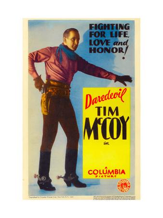 Tim Mccoy on Stock Midget Window Card, 1932 Photo