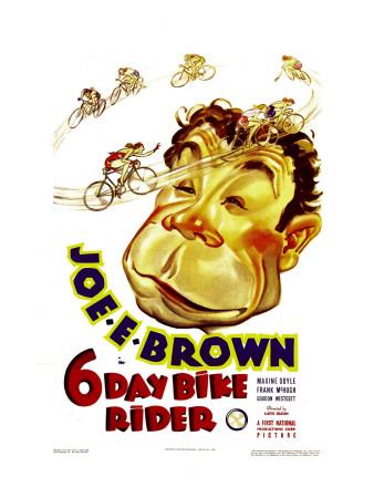 Six Day Bike Rider, Joe E. Brown, 1934 Photo