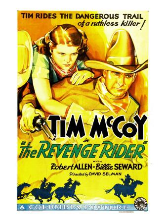 The Revenge Rider, Billie Seward, Tim Mccoy, 1935 Photo