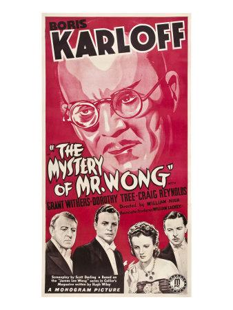 The Mystery of Mr. Wong, Boris Karloff, Holmes Herbert, Craig Reynolds, 1939 Photo