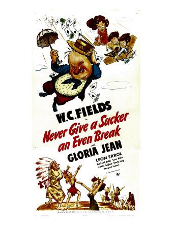 Never Give a Sucker an Even Break, Top Center: W.C. Fields, 1941 Photo