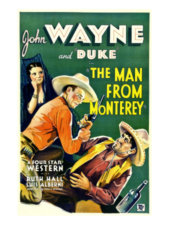 The Man from Monterey, Ruth Hall, John Wayne, Luis Alberni, 1933 Photo