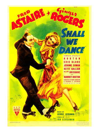 Shall We Dance, Fred Astaire, Ginger Rogers on Midget Window Card, 1937 Photo