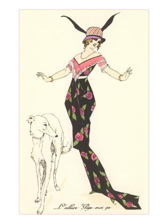 French Fashion, Borzoi Print