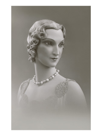 Twenties Female Mannequin Premium Poster