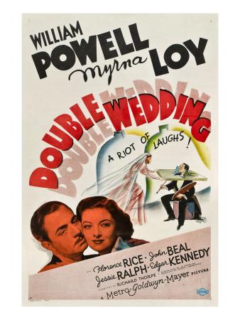 Double Wedding, William Powell, Myrna Loy, 1937 Photo