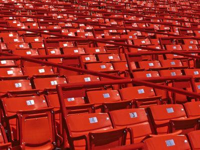 Empty Stadium Seats Photographic Print