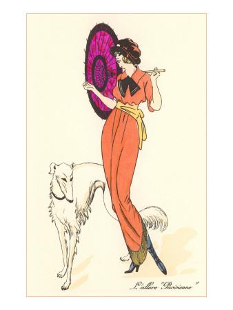 French Fashion, Borzoi Posters