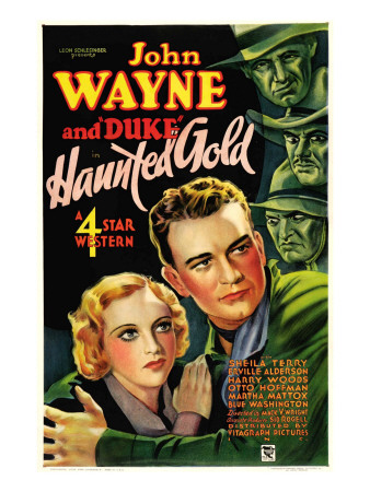 Haunted Gold, Sheila Terry, John Wayne, 1932 Photo
