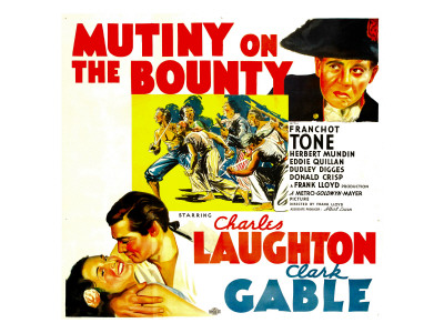 Mutiny on the Bounty, Charles Laughton, Movita, Clark Gable, 1935 Premium Poster