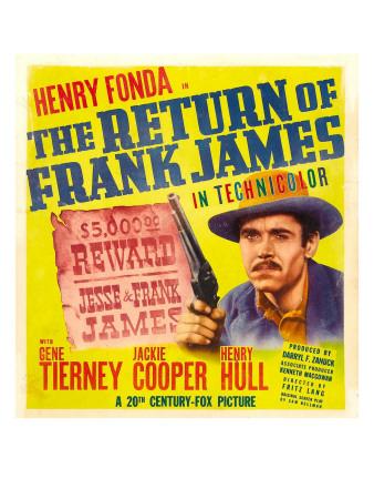 The Return of Frank James, Henry Fonda on Window Card, 1940 Photo