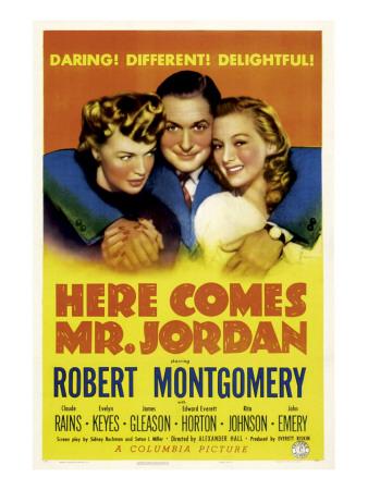 Here Comes Mr. Jordan, Rita Johnson, Robert Montgomery, Evelyn Keyes, 1941 Photo