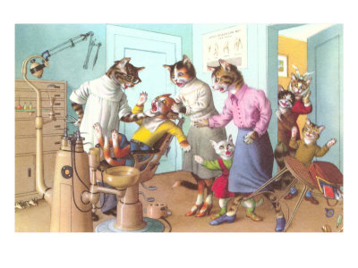 Cats at the Dentist Posters