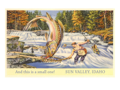 And This is a Small One, Sun Valley, Idaho, Giant Fish Prints