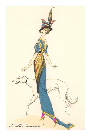 French Fashion, Greyhound Premium Poster