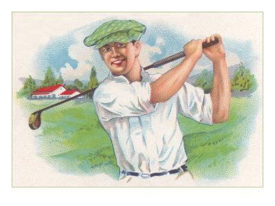 Smiling Golfer Print