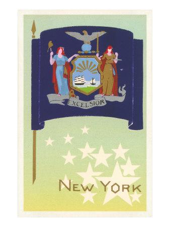 Flag of New York Prints