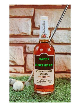 Happy Birthday, Whiskey and Golf Prints