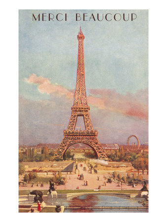 Merci Beaucoup, Eiffel Tower Posters