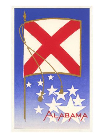 Alabama State Flag Prints
