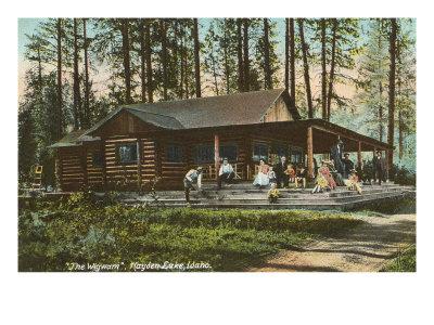 Log Cabin, Hayden Lake, Idaho Prints