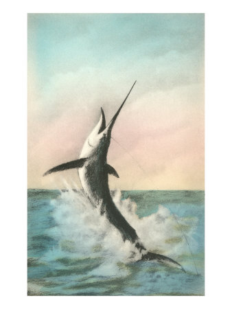 Swordfish on the Line Posters