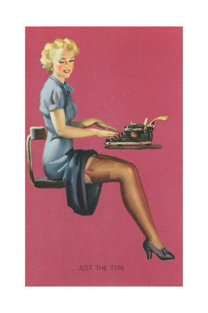Just the Type, Secretary with Short Skirt Premium Poster