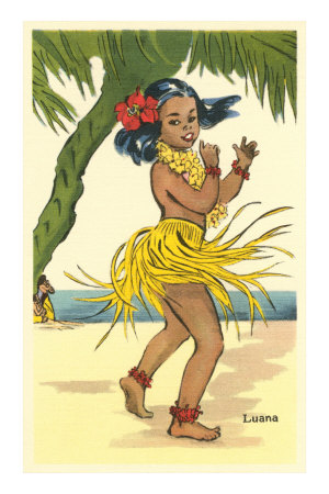 Luana, Little Hula Girl Premium Poster