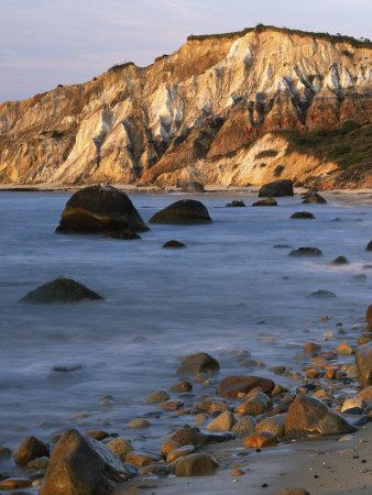 Aquinnah (Gay Head) Cliffs, Martha's Vineyard, Massachusetts, USA Photographic Print by Charles Gurche