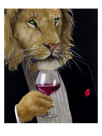 The Wine King Giclée-tryk af Will Bullas