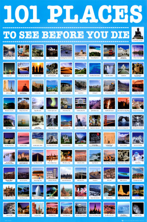 101 Places to See Plakát