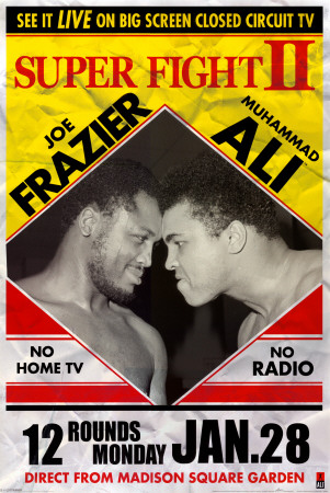 Muhammad Ali vs Joe Frazier Poster