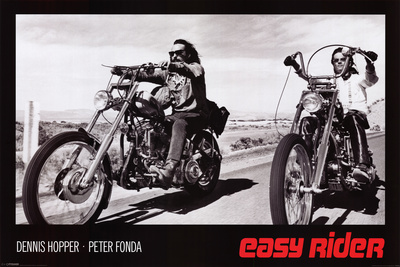 Easy Rider - Film avec P. Fonda, D. Hopper et J. Nickolson, 1969 Affiche