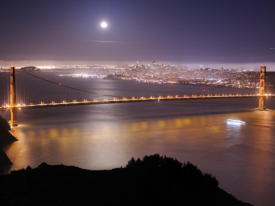 San Franciso and the Golden Gate Bridge, from the Marin Headlands Photographic Print by Jim Richardson