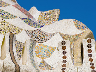 Parque De Guell, a Playful and Heavily Visited Gaudi Creation Photographic Print by Annie Griffiths Belt