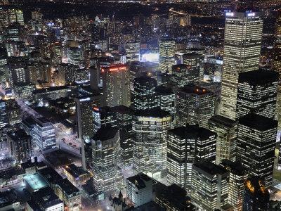 Toronto Seen at Night from the Cn Tower Fotoprint av Jim Richardson