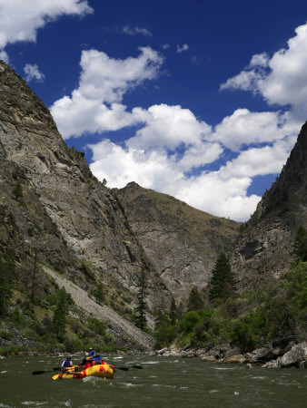 Entering the Impassible Canyon on the Middle Fork of the Salmon River Photographic Print by Drew Rush