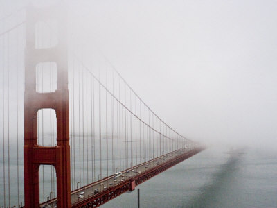 Fog Surrounds the Golden Gate Bridge Early in the Morning Photographic Print by Hannele Lahti