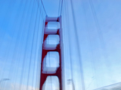Blurred Picture of Golden Gate Bridge While Driving over It Photographic Print by Raymond Gehman