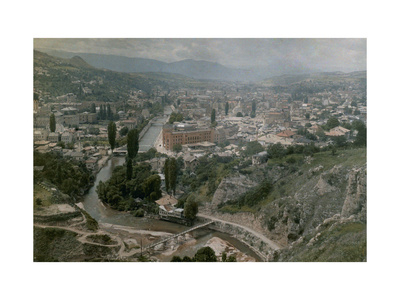 View Overlooking the City of Sarajevo Photographic Print by Hans Hildenbrand